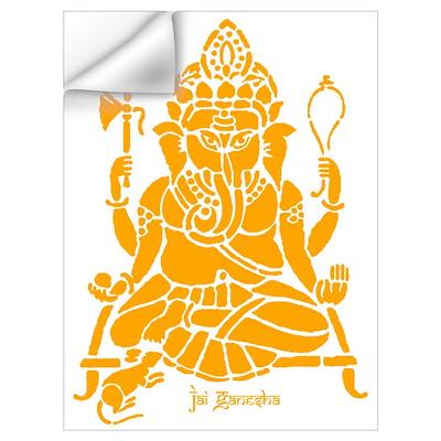 Jai Ganesh (Orange) Wall Decal