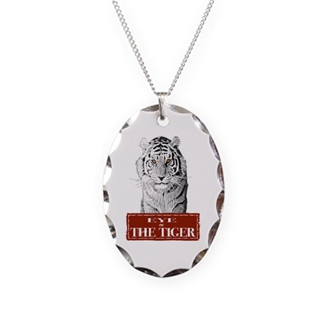 Eye of the Tiger Specail Effe Necklace Oval Charm