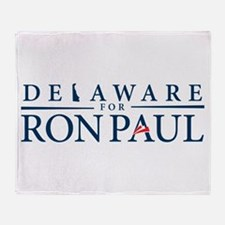 Delaware for Ron Paul Throw Blanket