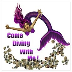 Come Diving with me Canvas Art