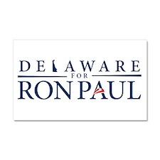 Delaware for Ron Paul Car Magnet 20 x 12