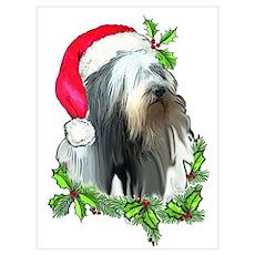 Santa Beardie Poster