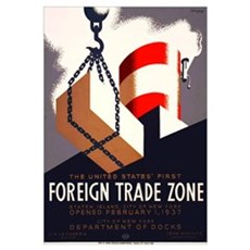 Trade Zone Framed Print