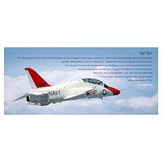 """""""High Flight"""" 14""""x6"""" #4 Poster"""