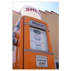 SureLine Studios : Shell Gas Station Framed Print