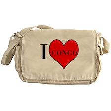 I LOVE CONGO Messenger Bag