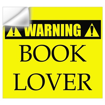 WARNING: Book Lover Wall Decal
