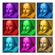 Shakespeare Pop Art Framed Print