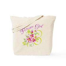 Paradise Flower Girl Tote Bag