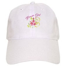 Paradise Flower Girl Baseball Cap