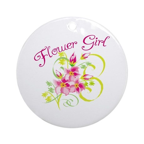 Paradise Flower Girl Ornament (Round)
