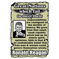 """Reagan: Great Nations"" Framed Print"