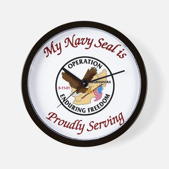 My navy seal Wall Clock