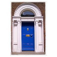 Blue Dublin Door Poster