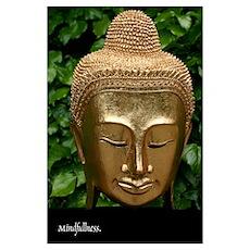 Mindfullness Golden Budhha Poster