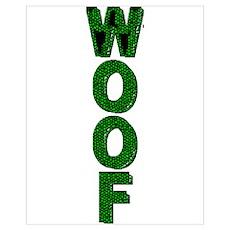 WOOF_drk GREEN MOSAIC Poster