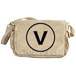 Circle V Messenger Bag