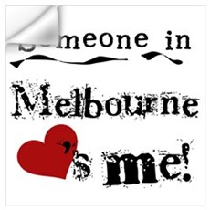 Someone in Melbourne Wall Decal