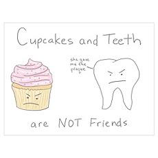 Cupcakes vs. Teeth Poster