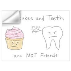 Cupcakes vs. Teeth Wall Decal