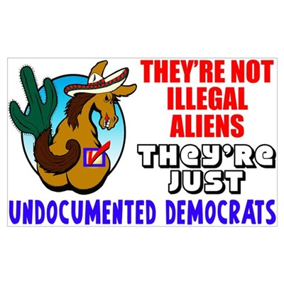 """Undocumented Democrats"" Framed Print"