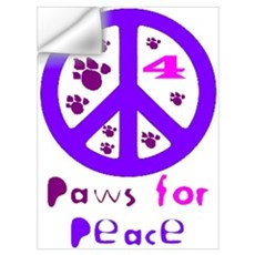 Paws for Peace Purple Wall Decal
