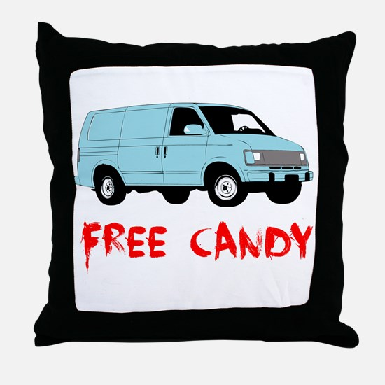 Free Candy Throw Pillow