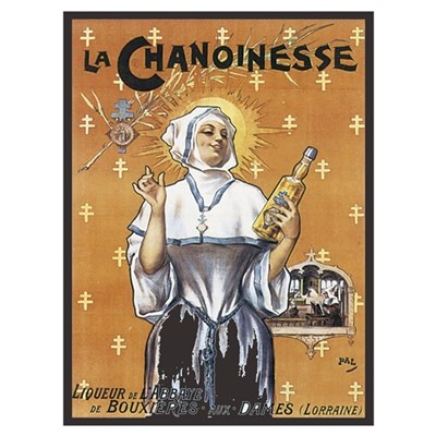 Vintage French La Chanoinesse Poster