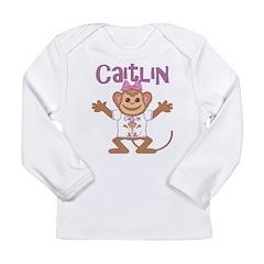 Little Monkey Caitlin Long Sleeve Infant T-Shirt