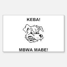 Mbwa mabe Decal