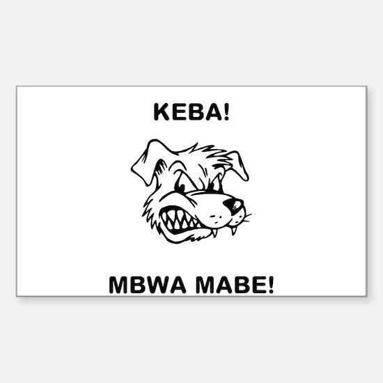 Mbwa mabe Sticker (Rectangle)