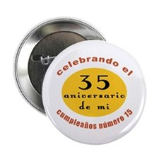 "Funny Spanish 50th Birthday 2.25"" Button"
