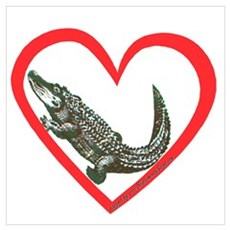 Alligator Heart Poster