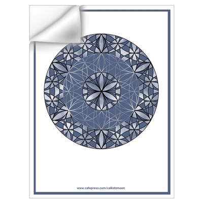 Flower of Life in Blue Wall Decal