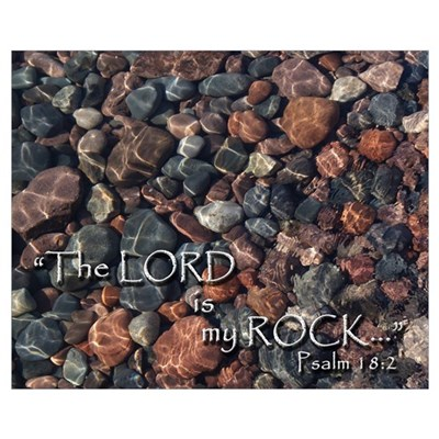 The Lord is my Rock Framed Print