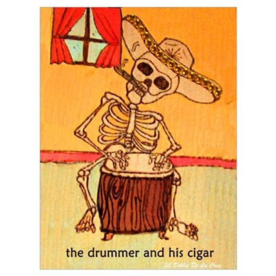 The Drummer and his cigar. Canvas Art