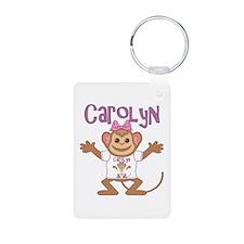 Little Monkey Carolyn Aluminum Photo Keychain
