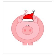 Holiday Pig Canvas Art