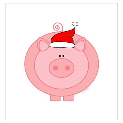 Holiday Pig Poster