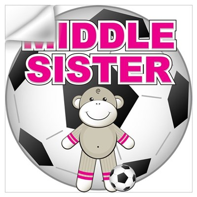 Middle Sister Soccer Wall Decal