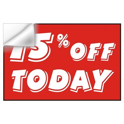 15% OFF TODAY Wall Decal