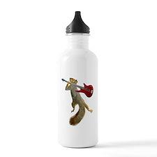 Squirrel Red Guitar Water Bottle