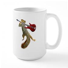 Squirrel Red Guitar Mug