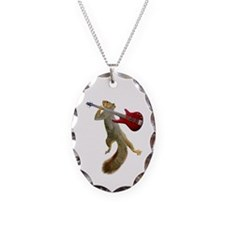 Squirrel Red Guitar Necklace