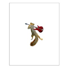Squirrel Red Guitar Posters