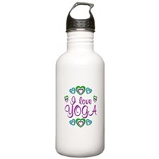 I Love Yoga Sports Water Bottle