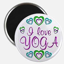 "I Love Yoga 2.25"" Magnet (100 pack)"