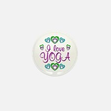 I Love Yoga Mini Button (100 pack)