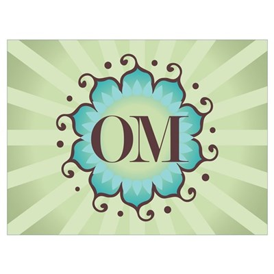 Lotus OM Green Canvas Art