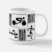 TRI Triathlon BLACK Square Mug